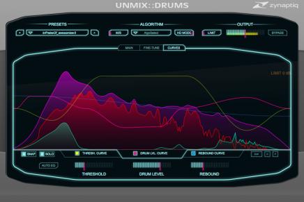 Zynaptiq upcoming plugin UNMIX::DRUMS at Musikmesse