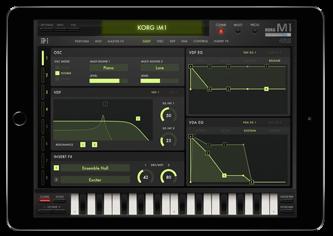 Korg iM1 iPad app
