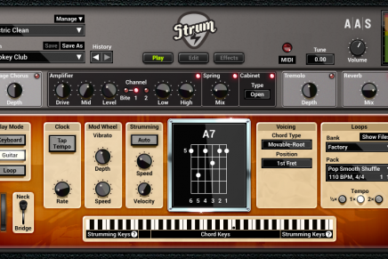 Applied Acoustics Systems Strum GS-2 now with acoustic and electric guitars