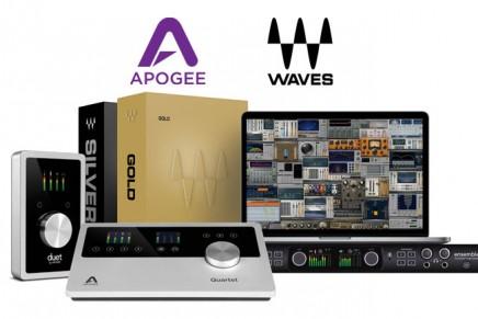 Apogee Duet, Quartet and Ensemble Now Include Waves Plugin Bundles