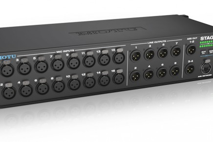 MOTU is shipping the Stage-B16 stage box – rack-mount mixer – audio interface