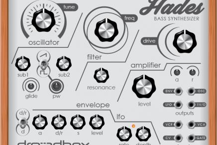 Dreadbox shows Hades Bass Synthesizer