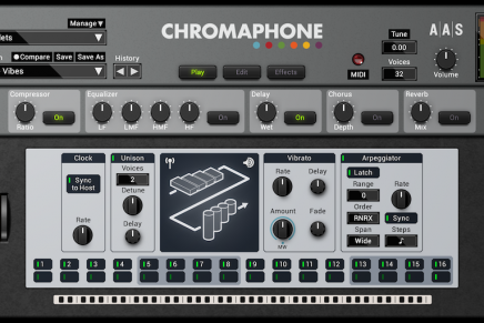 Applied Acoustics Systems announces Chromaphone 2 percussion synthesizer plug-in
