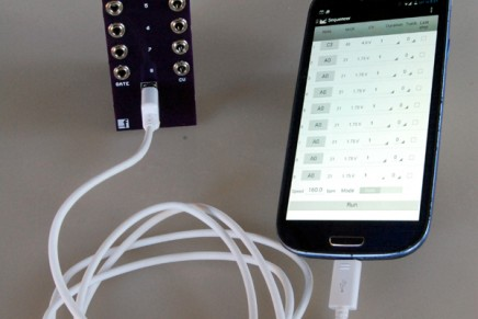 Personal Circuits announces MIDI-SEQ-8 eurorack for Android
