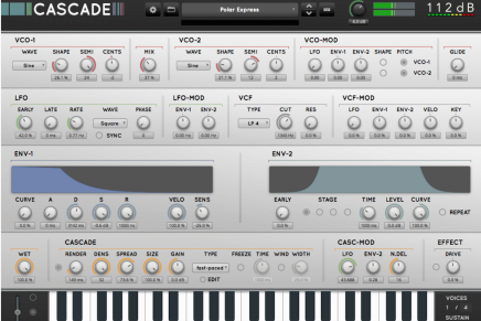 112dB releases Cascade – a new creative form of synthesis