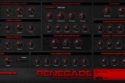 G-Sonique released Renegade plug-in