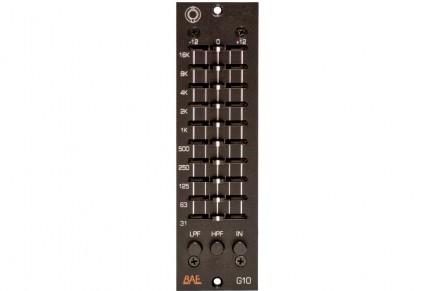 The new BAE Audio G10 EQ graphic EQ delivers analog versatility in the studio
