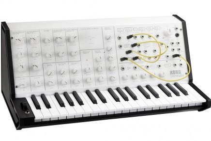 KORG announces limited edition MS-20 mini white analog synthesizer