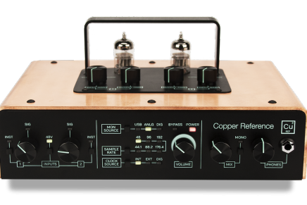 Tracktion announces Copper Reference stereo tube audio interface