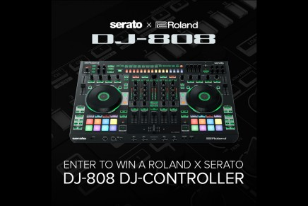 Win a Roland DJ-808 DJ controller or a AIRA M-100 V-Moda headphones (BeNeLux residents only)