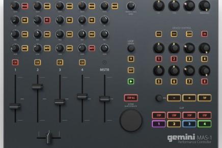 Gemini announces MAS-1 clip based DAW MIDI Controller