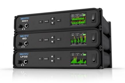 MOTU announces three new audio interfaces the M64, 8D and LP32