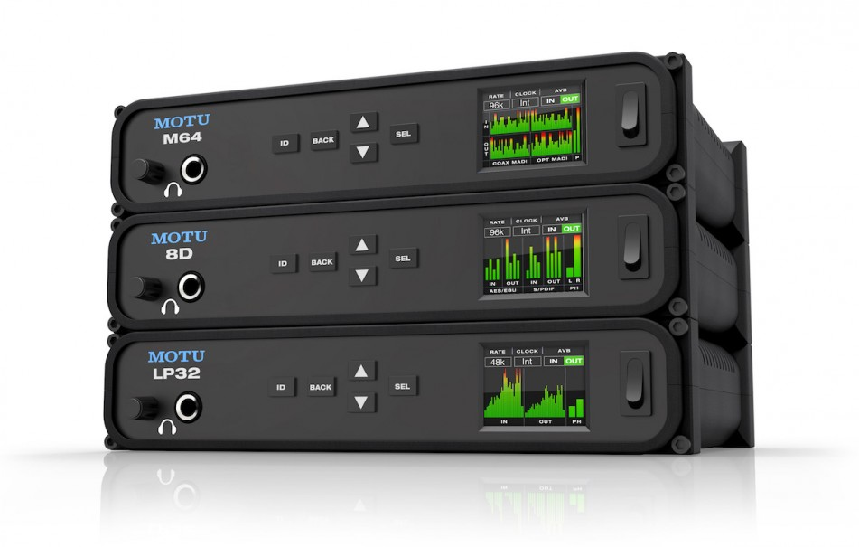 MOTU announces three new audio interfaces the M64, 8D and