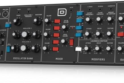 Behringer announces the D desktop / rack – Moog model D clone