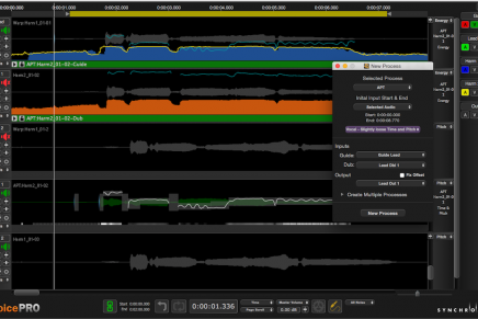 Synchro Arts updates Revoice Pro to version 3.3