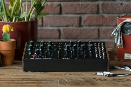 Moog introduces DFAM the Drummer From Another Mother semi-modular analog percussion synthesizer