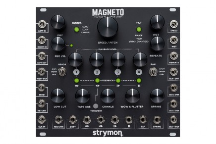 Strymon announces Magneto Tape Delay, Looper and more for Eurorack modular