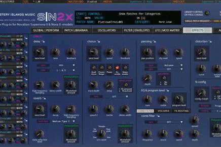 Mystery islands music announces SN2X AU editor for Novation Nova and Supernova synthesizer