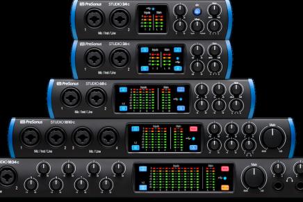 PreSonus introduces studio series USB-C audio interfaces
