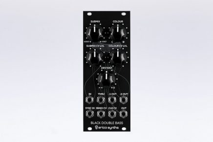 Erica Synths announces Black Double Bass Eurorack module