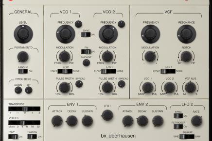 Brainworx Audio announces first virtual synthesizer bx_oberhausen