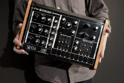 MIND Music Labs lets Powered by ELK Retrologue 2 desktop synthesizer prototype for Steinberg at Superbooth19