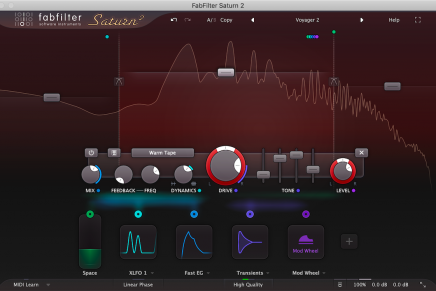 FabFilter releases FabFilter Saturn 2 multiband distortion and saturation plug-in