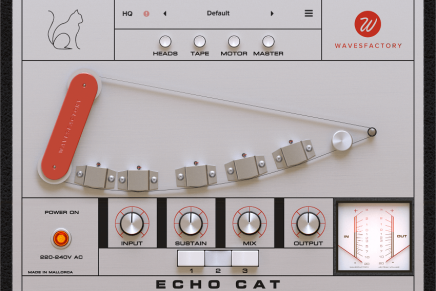 Wavesfactory announces Echo Cat tape delay plug-in