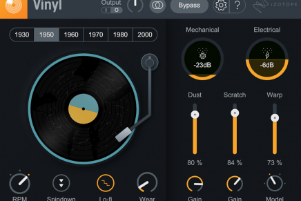 iZotope Updates Vinyl  – this free plug-in gets new features and look