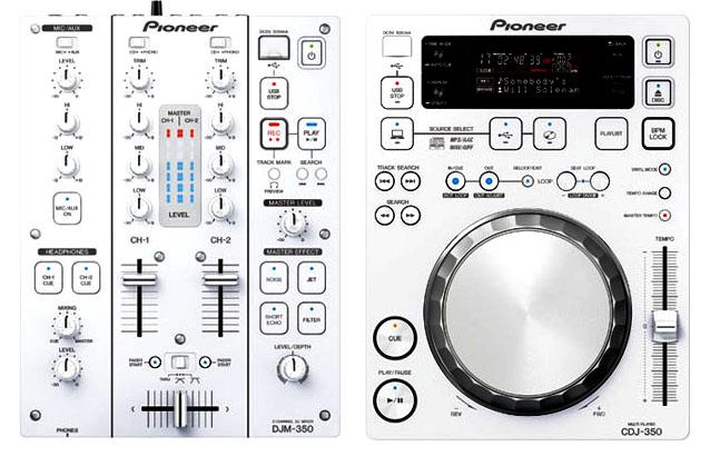 White, the new Black for Pioneer DJ CDJ-350-W and DJM-350-W