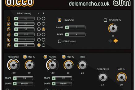 de la Mancha releases Ditto Delay FX plugin