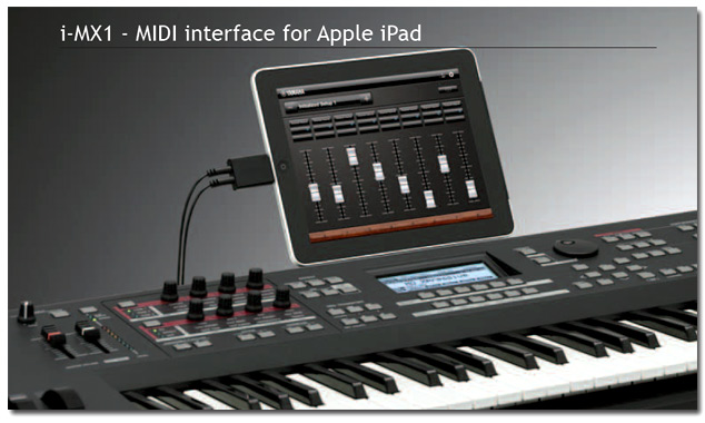 Yamaha i-MX1 - MIDI interface for Apple iPad announced
