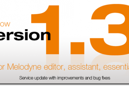 Celemony releases Version 1.3 of Melodyne editor, assistant and essential