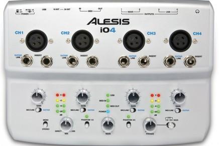 Alesis Ships iO4 24-bit USB Audio Interface