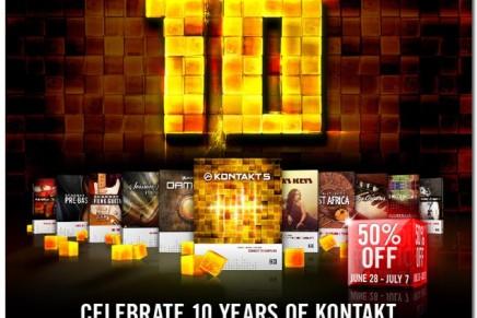 Celebrate 10 years of Native Instruments KONTAKT