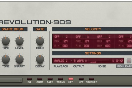 Transistor Revolution – TR-808 and 909 Instrument from Wave Alchemy