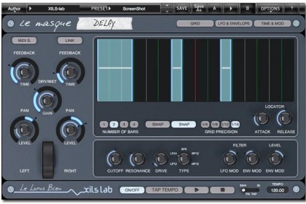 XILS-lab launches Le Masque Delay plug-in update version 1.5