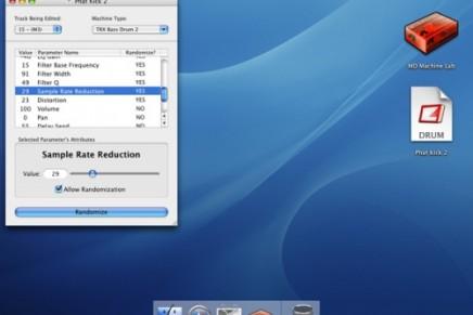 Free Machinedrum editor for Mac OSX