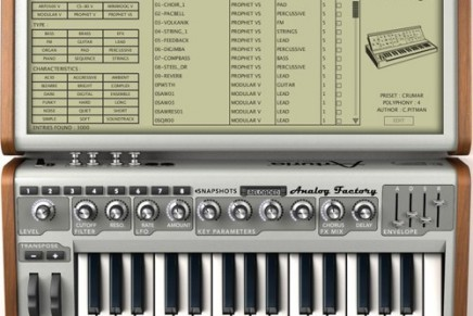 Arturia Analog Factory has been Reloaded